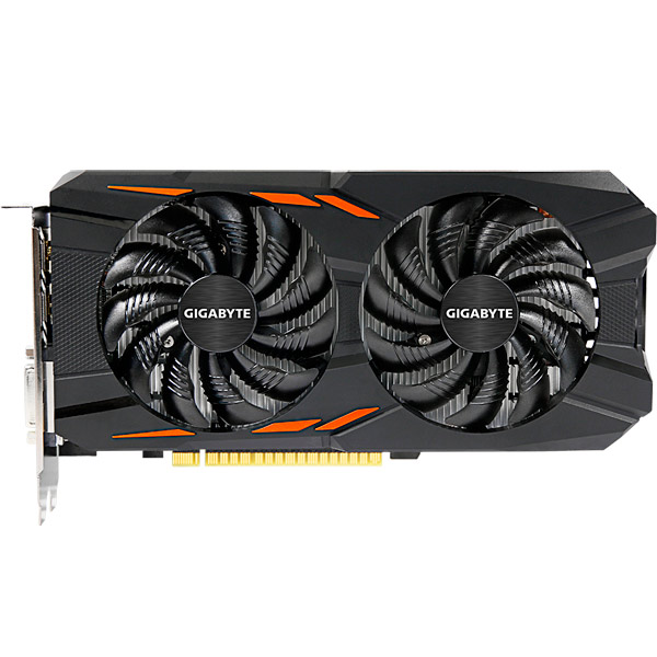 Видеокарта GIGABYTE GeForce GTX 1050 WINDFORCE OC 2G видеокарта 6144mb msi geforce gtx 1060 gaming x 6g pci e 192bit gddr5 dvi hdmi dp hdcp retail