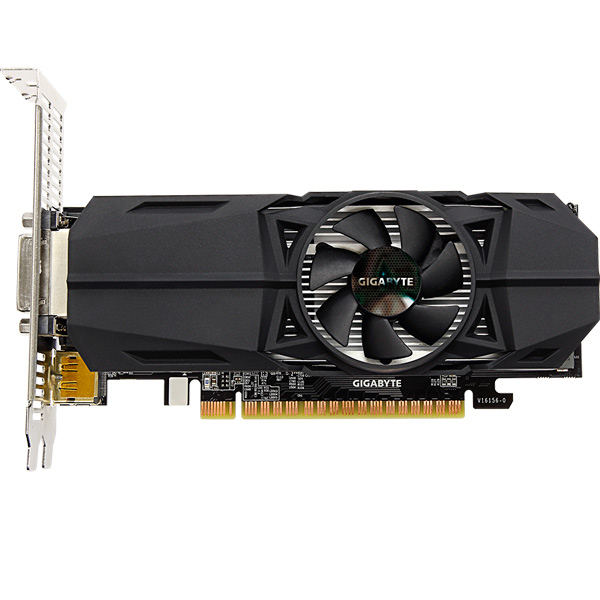 Видеокарта GIGABYTE GeForce GTX 1050 OC Low Profile 2G maxsun ms gtx750 geforce gtx 750 2g gddr5 graphics card with hdmi vga dvi interface