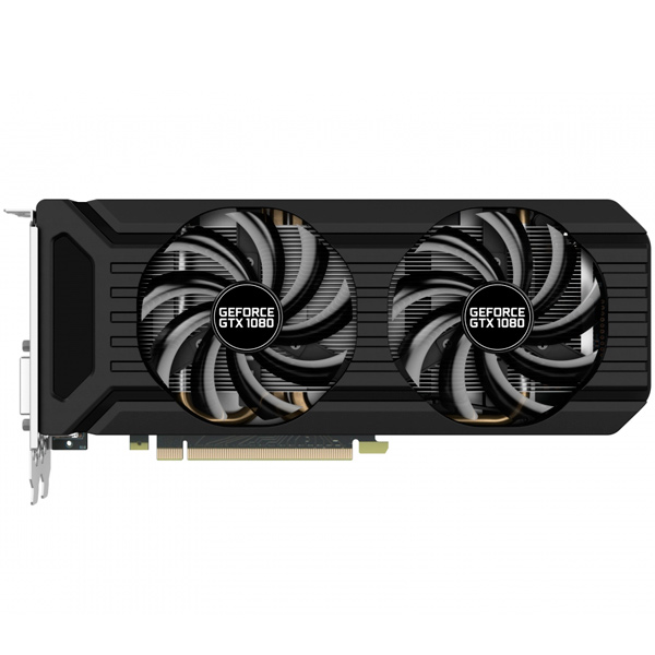 Видеокарта Palit GeForce GTX1080 DUAL OC 8G видеокарта 6144mb msi geforce gtx 1060 gaming x 6g pci e 192bit gddr5 dvi hdmi dp hdcp retail