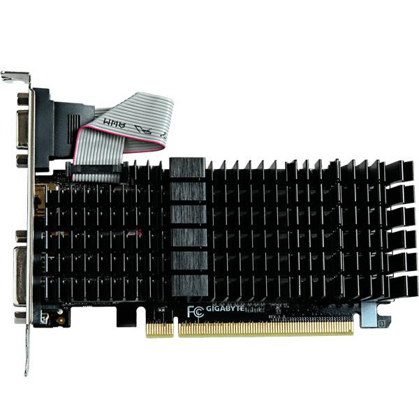 Видеокарта GIGABYTE GeForce GV-N710SL-1GL видеокарта 1024mb gigabyte gt710 pci e gv n710sl 1gl v2 0 retail