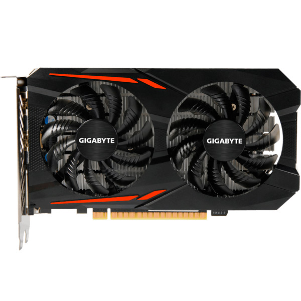 Видеокарта GIGABYTE GeForce GTX 1050 Ti OC 4G видеокарта 6144mb msi geforce gtx 1060 gaming x 6g pci e 192bit gddr5 dvi hdmi dp hdcp retail