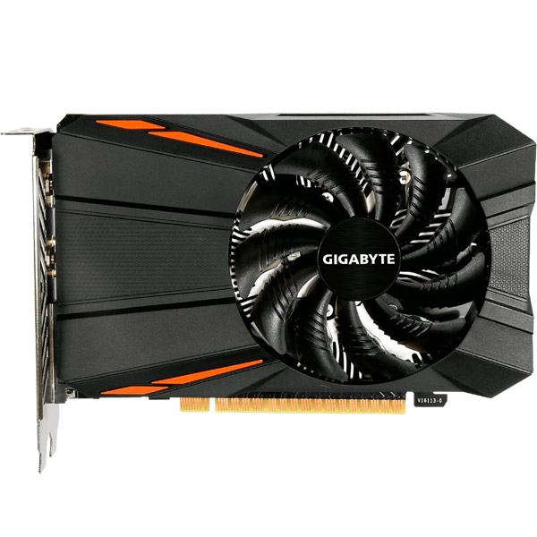 Видеокарта GIGABYTE GeForce GTX 1050 D5 2G видеокарта 6144mb msi geforce gtx 1060 gaming x 6g pci e 192bit gddr5 dvi hdmi dp hdcp retail