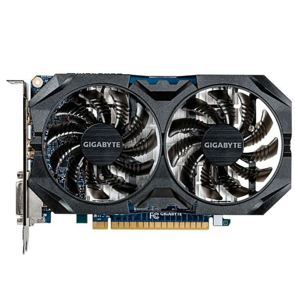 Видеокарта GIGABYTE GeForce GTX 750Ti 4GB GDDR5 OC Windforce maxsun ms gtx750 geforce gtx 750 2g gddr5 graphics card with hdmi vga dvi interface