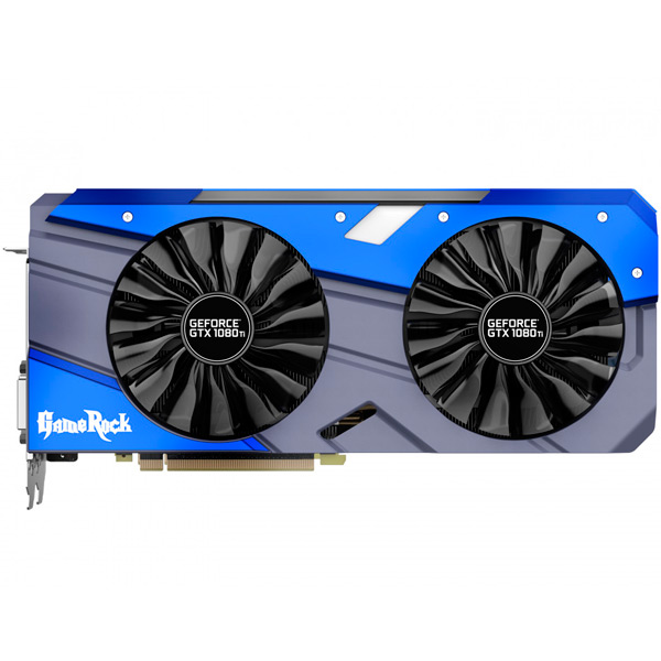 Видеокарта Palit GeForce GTX1080 Ti Gamerock Premium 11G geforce gtx 560 ti 2win