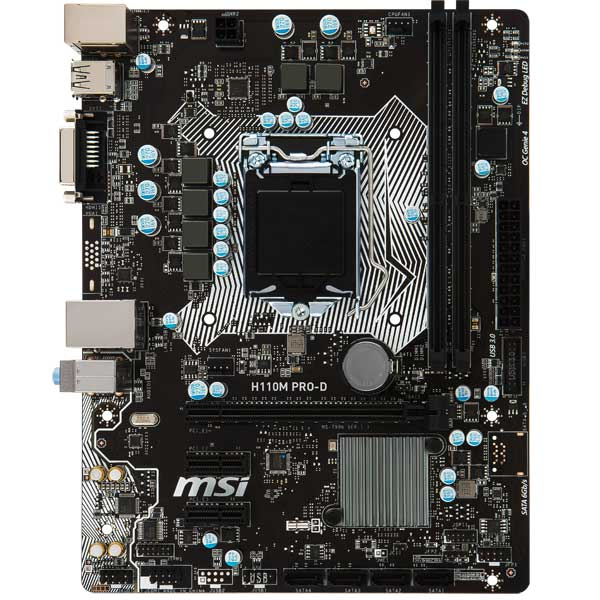 Материнская плата MSI H110M PRO-D материнская плата asus h81m r c si h81 socket 1150 2xddr3 2xsata3 1xpci e16x 2xusb3 0 d sub dvi vga glan matx