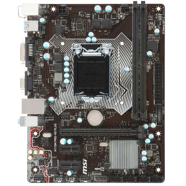 Материнская плата MSI H110M PRO-VD PLUS ноутбук msi gs43vr 7re 094ru phantom pro 9s7 14a332 094