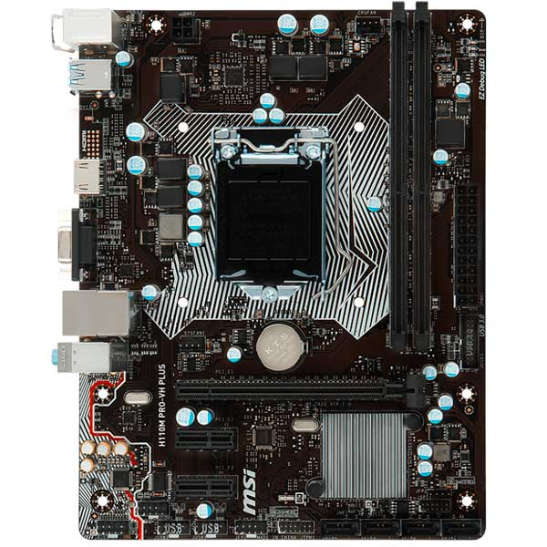 Материнская плата MSI H110M PRO-VH PLUS ноутбук msi gs43vr 7re 094ru phantom pro 9s7 14a332 094
