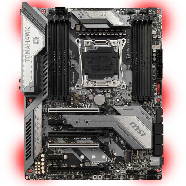 Материнская плата MSI X299 TOMAHAWK контроллер pci e sata ide 2 1 port sata raid jmb363 bulk