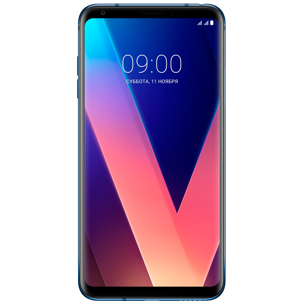 Смартфон LG V30+ Blue (H930DS) ноутбук hp probook 640 g2 y3b11ea intel core i5 6200u 2 3 ghz 4096mb 500gb dvd rw intel hd graphics wi fi bluetooth cam 14 1366x768 windows 7 64 bit