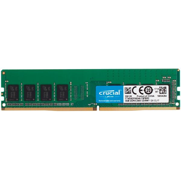 Оперативная память Crucial 4GB DDR4-2400 (CT4G4DFS824A) модуль оперативной памяти пк crucial bls4g4d240fsb 4gb ddr4 bls4g4d240fsb