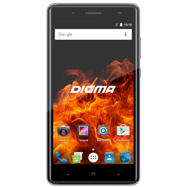 Смартфон Digma VOX FIRE 4G 8Gb Gray планшет digma plane 1601 3g ps1060mg black