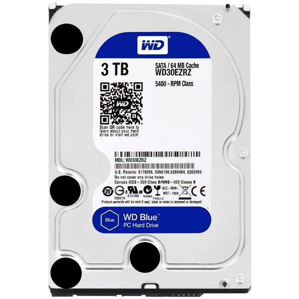 Жесткий диск WD 3TB Blue (WD30EZRZ) жесткий диск пк western digital wd30ezrz 3tb wd30ezrz