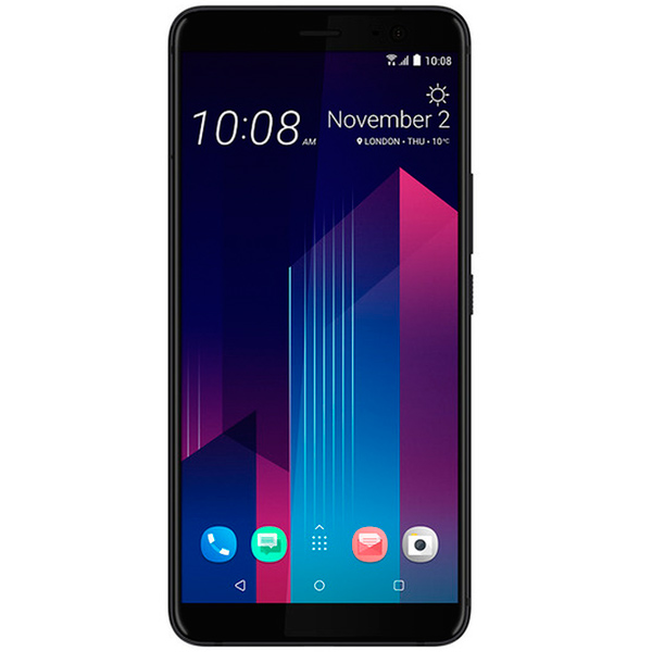 Смартфон HTC U11+ 64Gb Ceramic Black аксессуар чехол htc u ultra brosco black htc uu book black