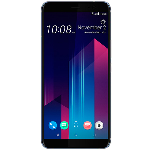Смартфон HTC U11+ 128Gb Amazing Silver смартфон htc u ultra brilliant black 128gb android 7 0 nougat msm8996 2150mhz 5 7 2560х1440 4096mb 128gb 4g lte [99halu052 00]