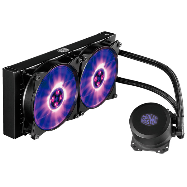 Кулер для процессора Cooler Master ML240L RGB (MLW-D24M-A20PC-R1) new original mr j3 20a 1 3ph ac220v 200w ac servo drive