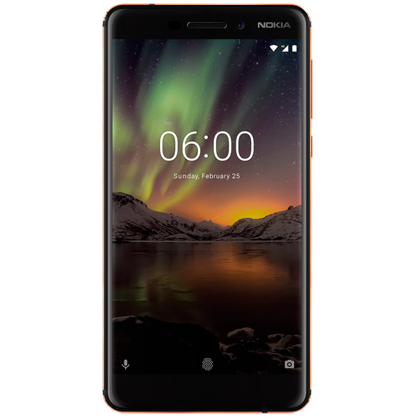 Смартфон Nokia 6.1 Black (TA-1043) смартфон nokia 8 ds cooper ta 1004
