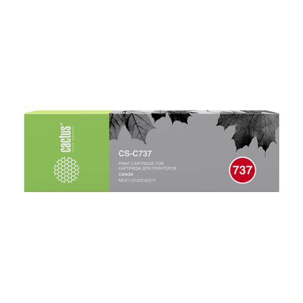 Картридж для лазерного принтера Cactus CS-C737 Black для Canon MF 210/211/212/216/217/22