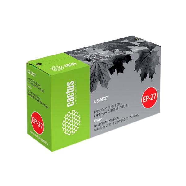 Картридж для лазерного принтера Cactus CS-EP27S Black для Canon LBP3200/MF3220/3110/3200