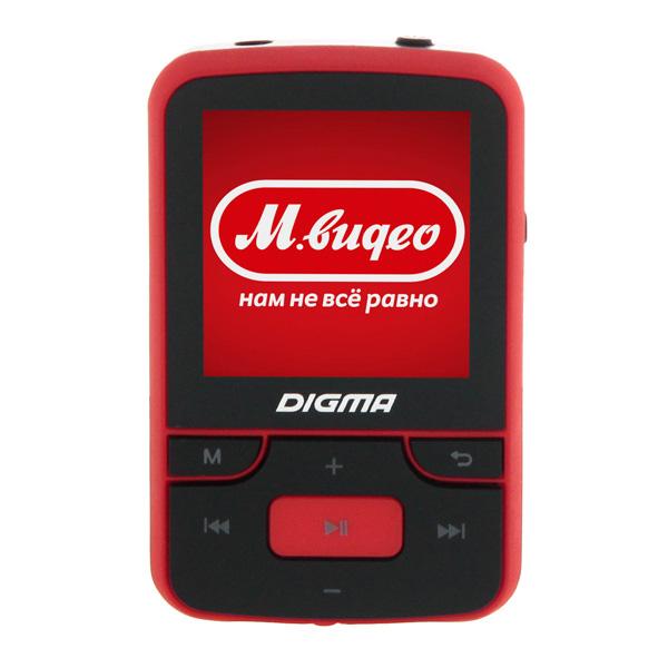 Портативный медиаплеер Digma T3 черный/красный