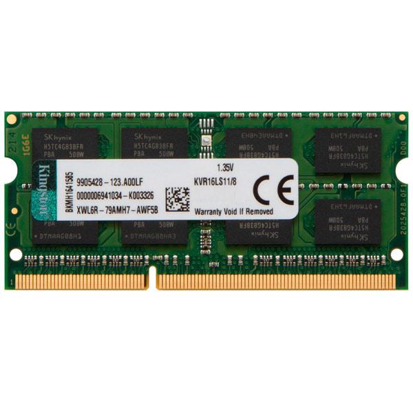Оперативная память Kingston KVR16LS11/8 оперативная память kingston kvr13s9s8 8 гб 2 модуля