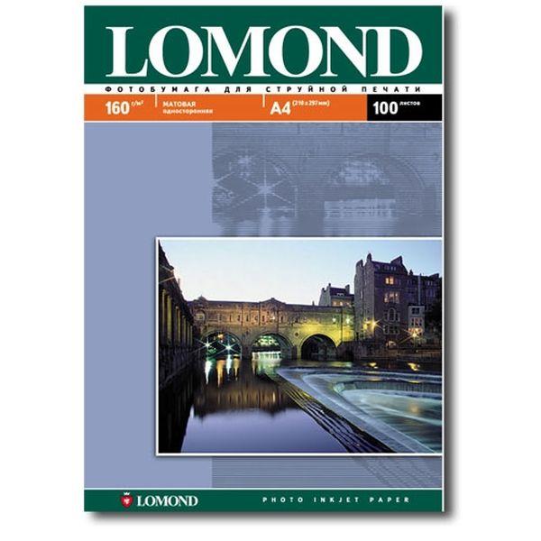 Фотобумага для принтера Lomond Matt А4 100л 160г/м2 (0102005)