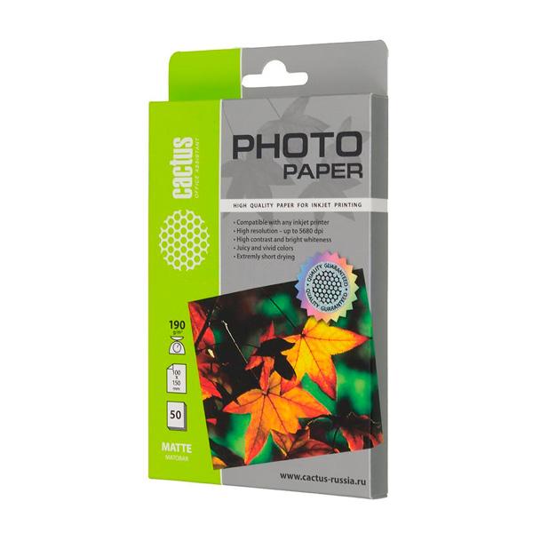 Фотобумага для принтера Cactus — CS-MA619050