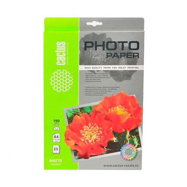 Фотобумага для принтера Cactus — CS-MA419025