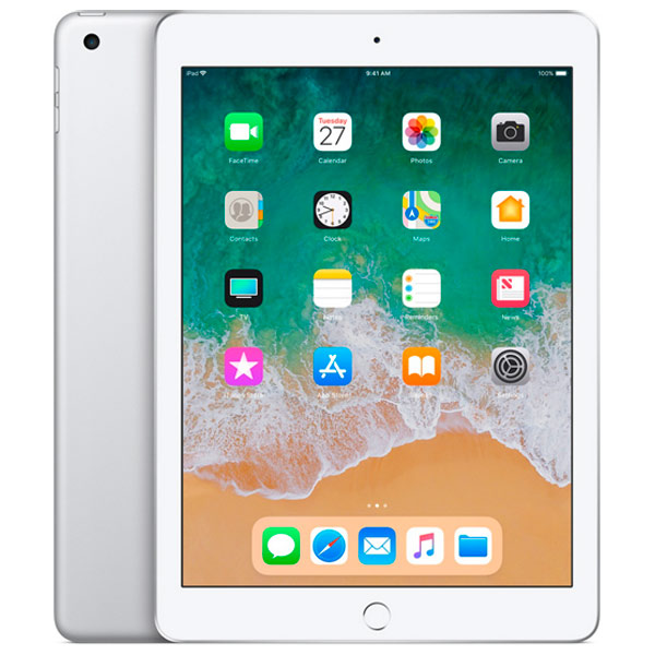 Планшет Apple iPad (2018) 128GB Wi-Fi Silver (MR7K2RU/A)
