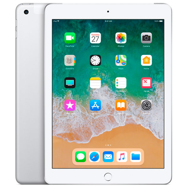 Планшет Apple iPad (2018) 32GB Wi-Fi+Cellular Silver(MR6P2RU/A) ipad mini 32gb wifi cellular в кредит