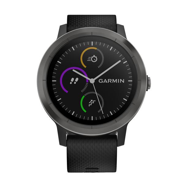 Спортивные часы Garmin Vivoactive 3 Silicone Slate Black (010-01769-12) видеорегистратор garmin dashcam 65w 010 01750 15