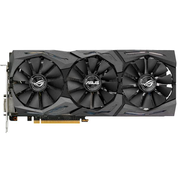 Видеокарта ASUS GeForce GTX 1060 ROG Strix 6GB Gaming видеокарта 8192mb asus geforce gtx1070ti rog pci e 256bit gddr5x dvi hdmi dp rog strix gtx1070ti a8g gaming retail
