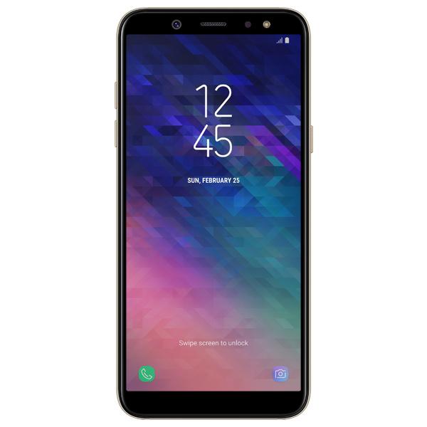 Смартфон Samsung Galaxy A6 (2018) Gold (SM-A600F) смартфон samsung galaxy j7 2016 sm j710fn gold