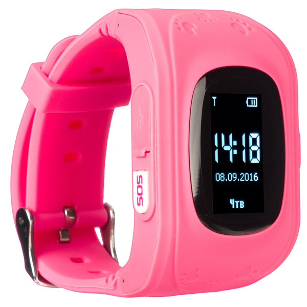 Часы с GPS трекером Jet KID Start Light Pink