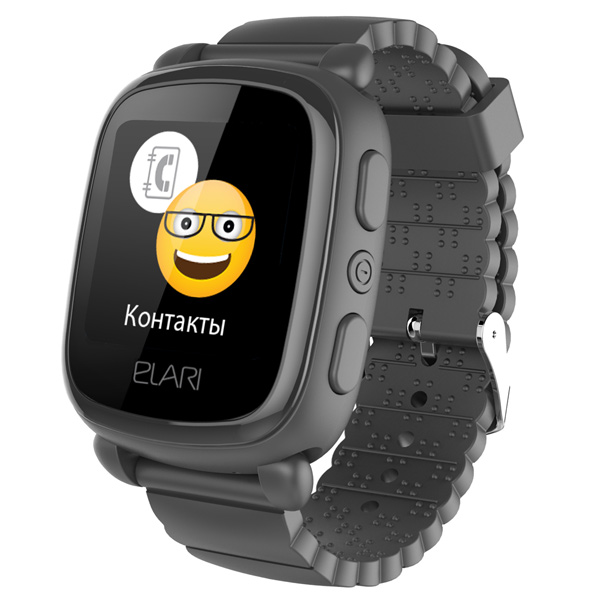 Часы с GPS трекером Elari Kid Phone 2 Black