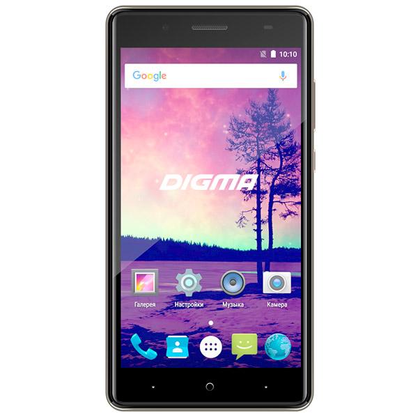 Смартфон Digma VOX S509 3G 16Gb Gray смартфон digma vox s503 16гб черный dual sim 4g lte 3g