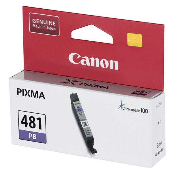 Картридж для струйного принтера Canon CLI-481 PB Blue картридж для принтера canon cli 8r 0626b024 red