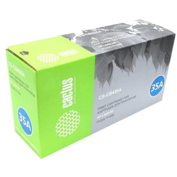 Картридж для лазерного принтера Cactus CS-CB435AS Black для HP LJ P1005/P1006 (1500стр.)
