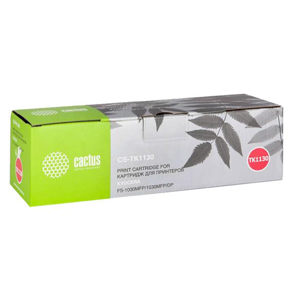 Картридж для лазерного принтера Cactus CS-TK1130 Black для Kyocera FS-1030/1130 (3000стр