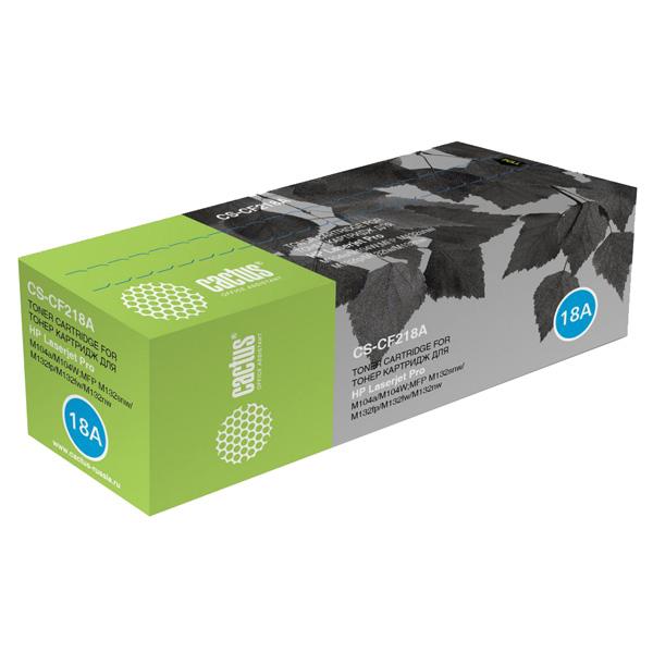 Картридж для лазерного принтера Cactus CS-CF218A Black для HP LJ M104/ M132 (1400стр.) фото