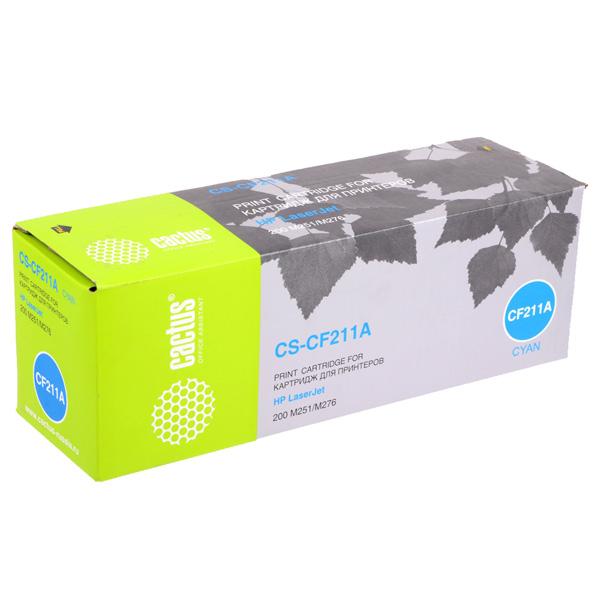 Картридж для лазерного принтера Cactus CS-CF211A Cyan для HP LJ Pro 200 M251/M276 (1800с