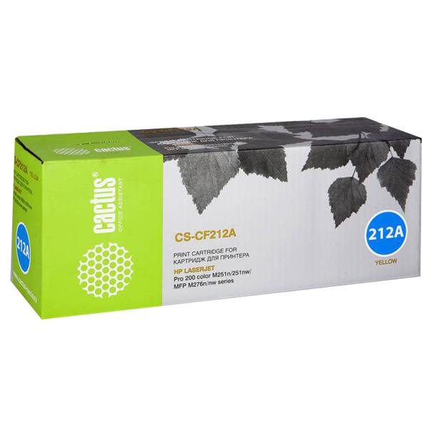 Картридж для лазерного принтера Cactus CS-CF212A Yellow для HP LJ Pro 200 M251/M276 (180