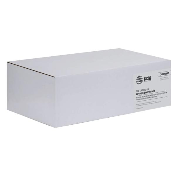 Картридж для лазерного принтера Cactus CS-CB436AD Black x2уп. для HP LJ P1505/M1120/M152
