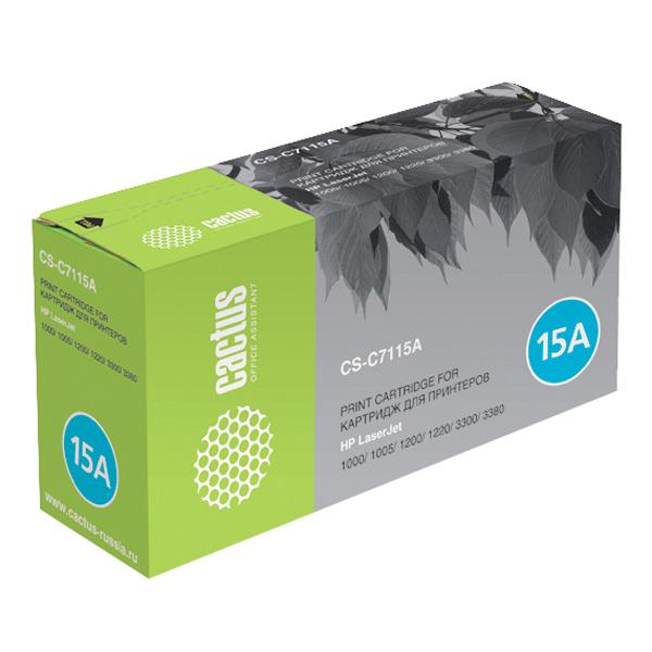 Картридж для лазерного принтера Cactus CS-C7115AS Black для HP LJ 1000/1005/1200 (2500ст
