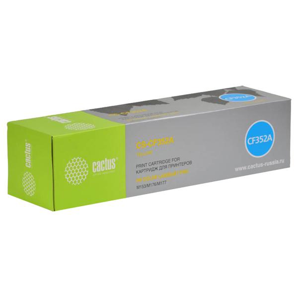 Картридж для лазерного принтера Cactus CS-CF352A Yellow для HP M176/M177 (1000стр.) картридж cactus cs cf353a magenta для hp m176 m177