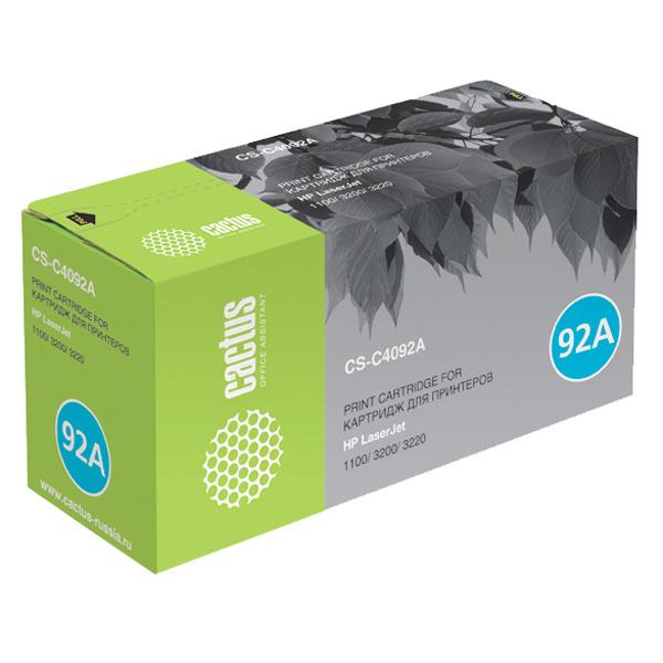 Картридж для лазерного принтера Cactus CS-C4092A Black для HP LJ 1100/3200/3220 (2500стр