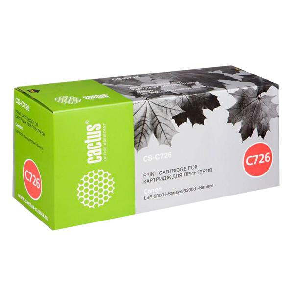 Картридж для лазерного принтера Cactus CS-C726S Black для Canon LBP-6200/6200D (2100стр.