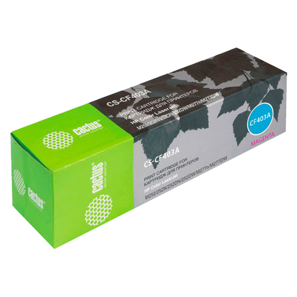 Картридж для лазерного принтера Cactus CS-CF403A Magenta для HP CLJ M252/252N/252DN/252D фото