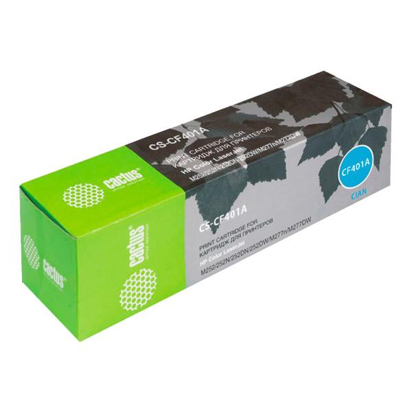 Картридж для лазерного принтера Cactus CS-CF401A Cyan для HP CLJ M252/252N/252DN/252DW/M