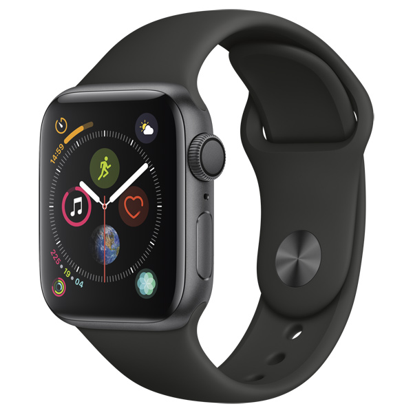 Смарт-часы Apple Watch S4 Sport 40mm SpaceGrey Al/Black Sport Band