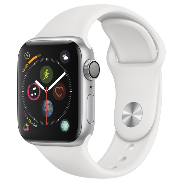 Смарт-часы Apple Watch S4 Sport 44mm Silver Al/White Sport Band